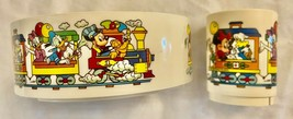 **MINT COND** DISNEY Vintage MICKEY Train Snack'N Fun Time Bowl & Cup Ch... - $19.98