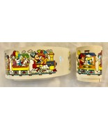 **MINT COND** DISNEY Vintage MICKEY Train Snack'N Fun Time Bowl & Cup Child Set - $19.98