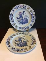 """Copeland Spode New Stone Bowpot Blue Multicolor 8 5/8"""" Luncheon Plate Lo... - $18.00"""