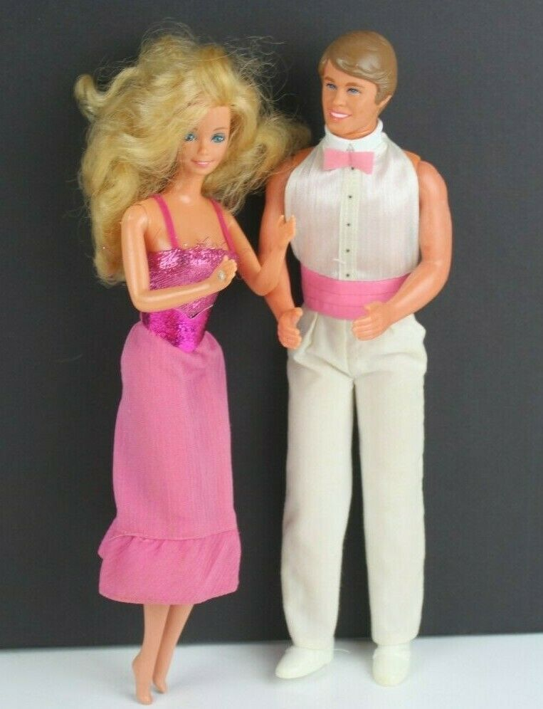 Primary image for Ken & Barbie 1966 & 1968 Mattel Made in Taiwan