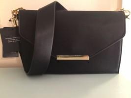 INC Womens Yvonn Black Faux Leather Flap Crossbody Handbag Purse Small - $33.99