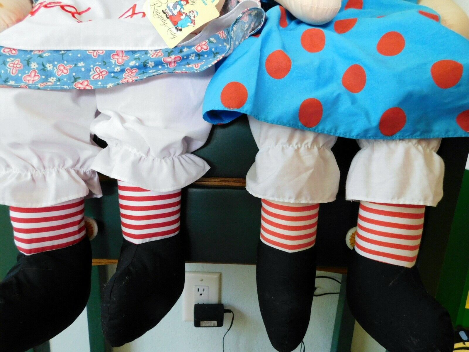 "(2) 36"" RAGGEDY ANN DOLLS with Hangtags Applause image 3"