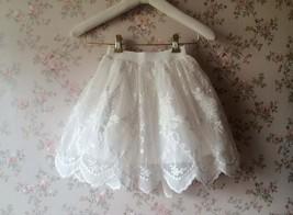 Mini Lace Baby Tutu Girl White Tutu Skirt image 1