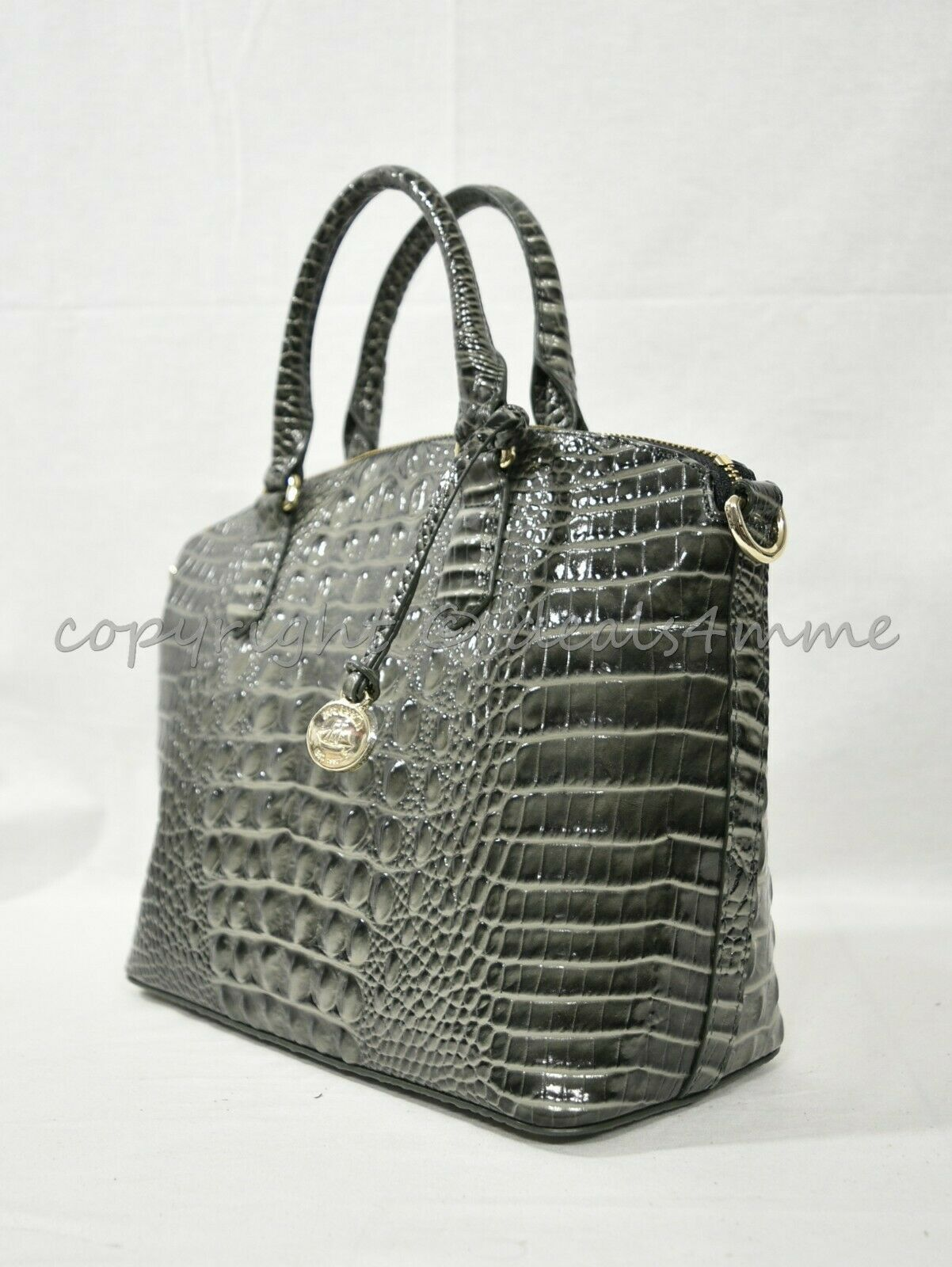 Primary image for NWT Brahmin Duxbury Leather Satchel/Shoulder Bag in Serpentine Melbourne
