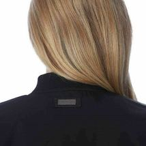 Bernardo Ladies' Black Satin Bomber Boyfriend Zip Up Jacket Coat Medium NEW image 5