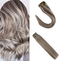 Sunny Clip in Hair Extensions Blonde 14 inch Remy Hair Double Weft Clip ... - $54.61
