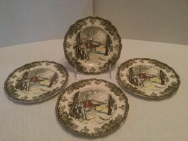 """Set Of 4 Johnson Brothers Round Bread & Butter Plates """"Sugar Maples"""" 6.2"""" - $24.75"""