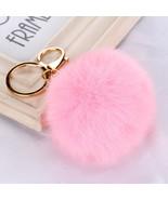 Keychain  28 colors  Faux Rabbit Fur Ball - $5.99