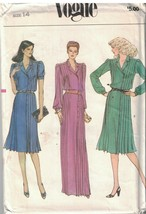 7828 UNCUT Vogue Sewing Pattern Misses Loose Fitting Dress Tucked Bodice... - $7.99