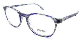 Starck Eyes Mikli Rx Eyeglasses Frames SH3045 0001 52-19-140 Striped Blue Grey - $117.60