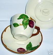 VINTAGE FRANCISCAN APPLE CUP & SAUCER 1958 EARTHENWARE - $13.66