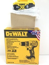 "DeWalt DCD791 20V XR Brushless Cordless 1/2"" Drill 20V  2 Speed w/ 5ah Battery - $176.39"