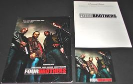 2005 FOUR BROTHERS Movie PRESS KIT Folder CD Production Notes Mark Walberg - $14.50