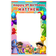 Little Baby Bum Dino Birthday Party Selfie Frame Poster - $16.34+