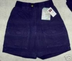 NWT Woolrich Shorts Outdoorwear Blue Cotton Cargo Misses 6 - $17.42