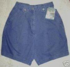 Woolrich Shorts Outdoorwear Faded Blue Cotton Khaki NWT MS 8 - $15.54