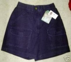 Woolrich Shorts Misses Size 8 Outdoorwear Navy Blue Cotton Cargo NWT - $14.59