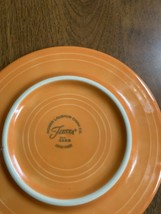 Homer Laughlin China Co Fiesta Orange Small Lady Plate - $7.91