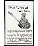 1925 Small AD Moto Mower Power Grass Cutter Garden - $12.99
