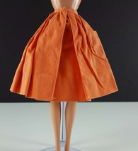 Barbie PAK Gathered Orange Skirt Cotton Original 1962 Clothing - $15.83