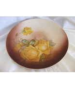 OLD yellow rose plate The Colonial Co., signed  - $7.99