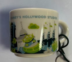 Starbucks Disney Hollywood Studios Ceramic Coffee Demitasse Mug Ornament - $25.84
