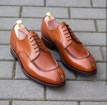 Brown Tone Superior Leather Men Formal Dress Rounded Apron Toe Oxford Shoes - $139.90+