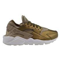 Nike Air Huarache Run PRM TXT Women's Running Shoes Khaki-White AA0523-201 - $109.95