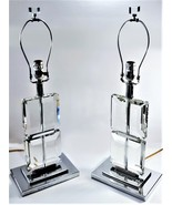 Set of 2 Ice palace Crystal Cube lamps. - $175.00