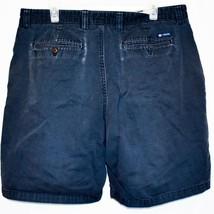 Chaps by Ralph Lauren Flat Front Faded Navy Blue Men's Cotton Shorts Size 36 image 2