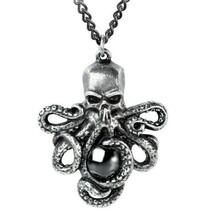 Alchemy Gothic Mammon of the Deep Pendant Octopus Skull Plage Noir Festi... - $29.95