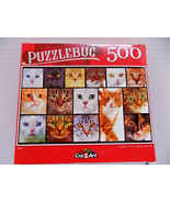 CATS ~ 15 FACES~ TABBY TIGER PERSIAN ETC ~ 500 Pc Jigsaw Puzzle 18 x11 NEW - $15.20