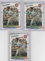1988 Fleer Greg Maddux Cubs #423 Lot of 3 - $1.71