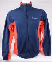 Columbia vintage men's fleece jacket full zip long sleeve blue orange si... - $18.44