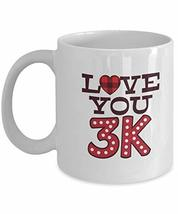 Cute Love You Valentine Gift for Sister from Brother White Coffee Mug - $19.75