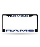 NFL Los Angeles Rams Black Laser Cut Chrome License Plate Frame - $27.43