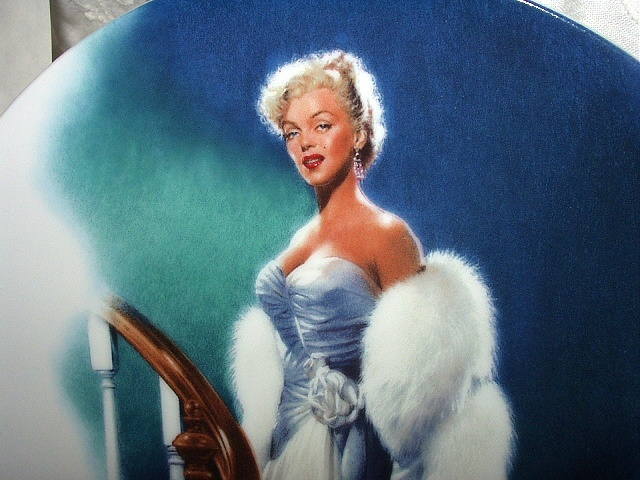 MARILYN MONROE 1992 BRADFORD 9th ISSUE PLATE-ALL ABOUT EVE