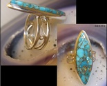 BLUE COPPER TURQUOISE RING in Sterling Silver - Size 7 1/4