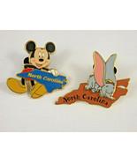 TWO Disney World Disneyland Pins State Character North Carolina - Dumbo ... - $35.00