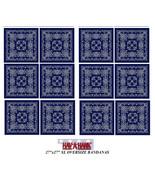 "12 Hav-A-Hank XL BIG SIZE BLUE PAISLEY 27"" BANDANNA Head Wrap Face Mask ... - $80.08"