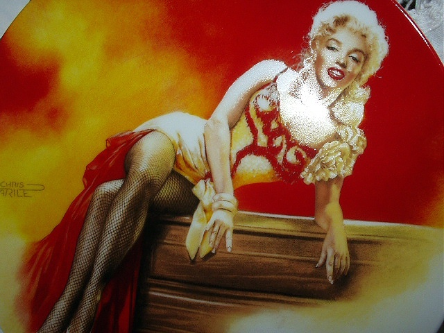 MARILYN MONROE-BRADFORD #3 PORCELAIN PLATE-RIVER OF NO RETUR