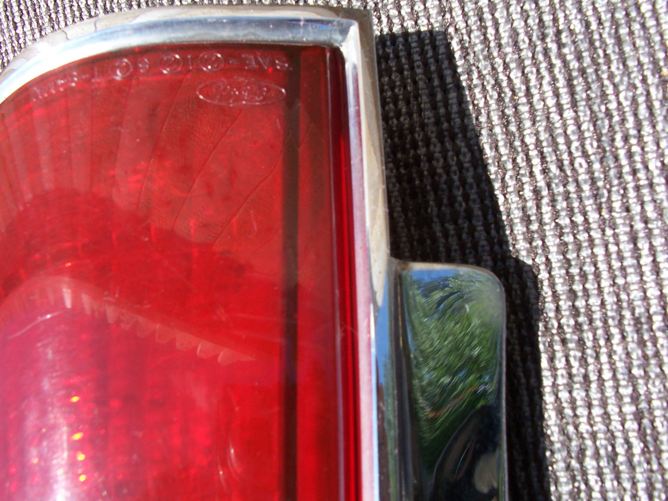 1984 1992 LINCOLN MARK VII 7 RIGHT TAILLIGHT CHROME OEM USED TAILLIGHT