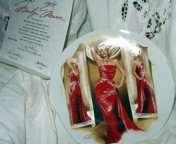 MARILYN MONROE 4th BRADFORD ISSUE PLATE-1991 HOW TO MARRY A