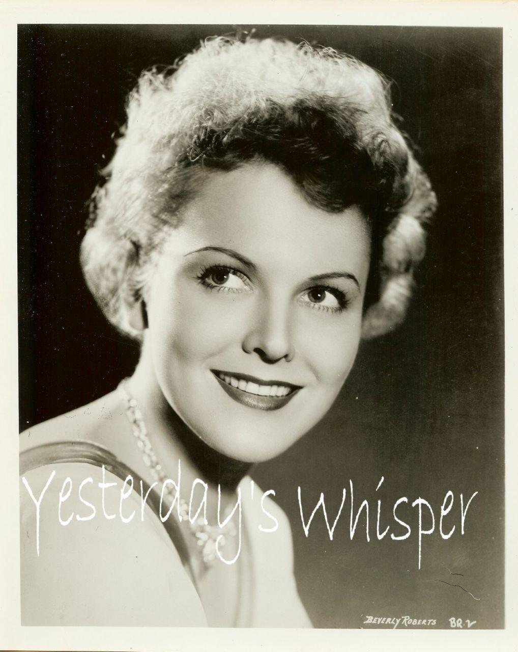 1930s Vintage Publicity Portrait Photo Beverly Roberts K336