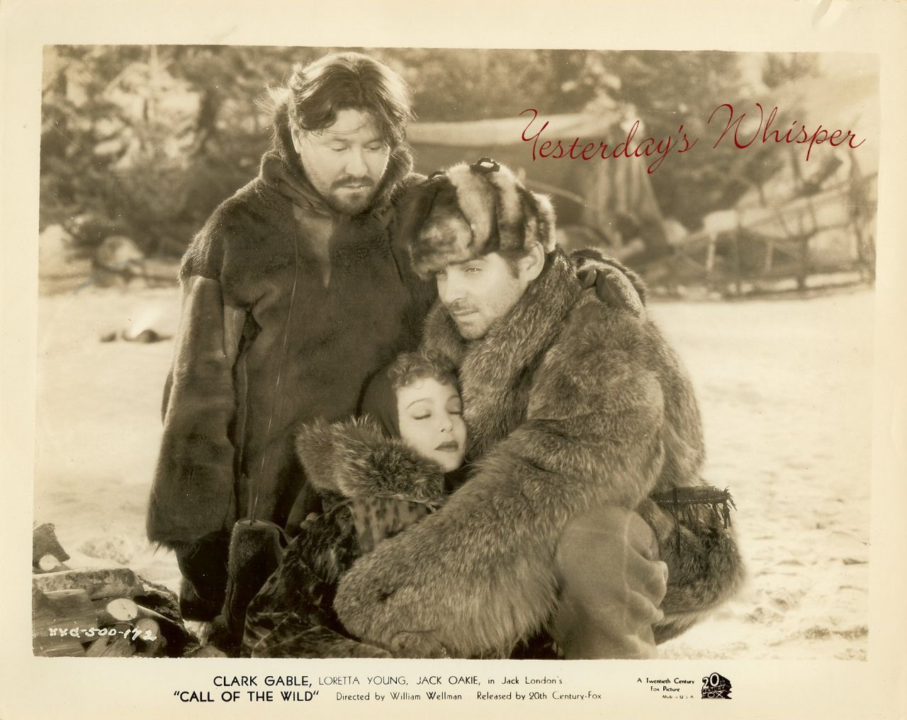 Loretta YOUNG Clark GABLE Fur 1930s Movie Still PHOTO