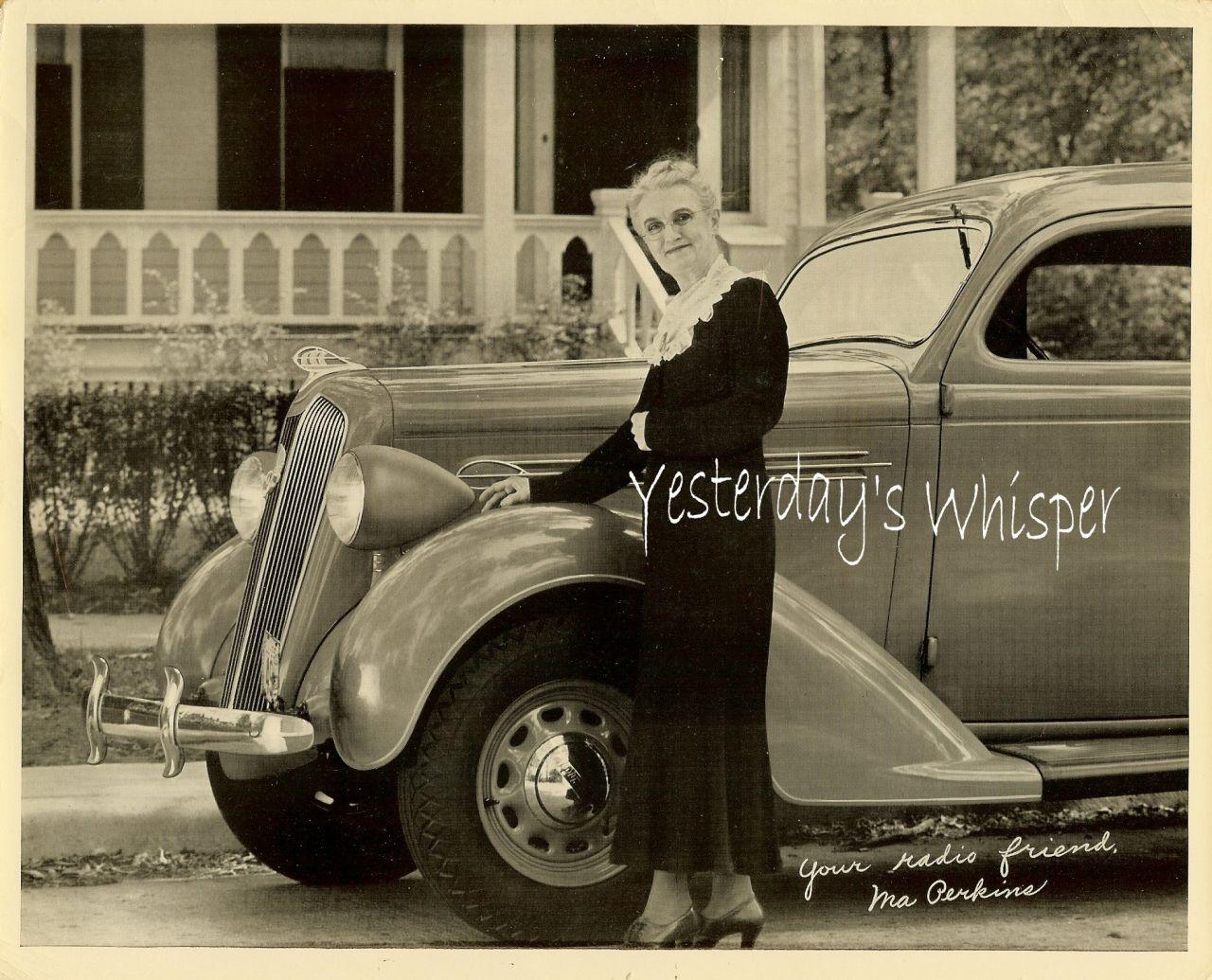 1940s Old Radio Show Promo PHOTO Ma Perkins M972