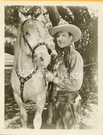 Vintage Western Publicity Promo Photo Tom Tyler Horse