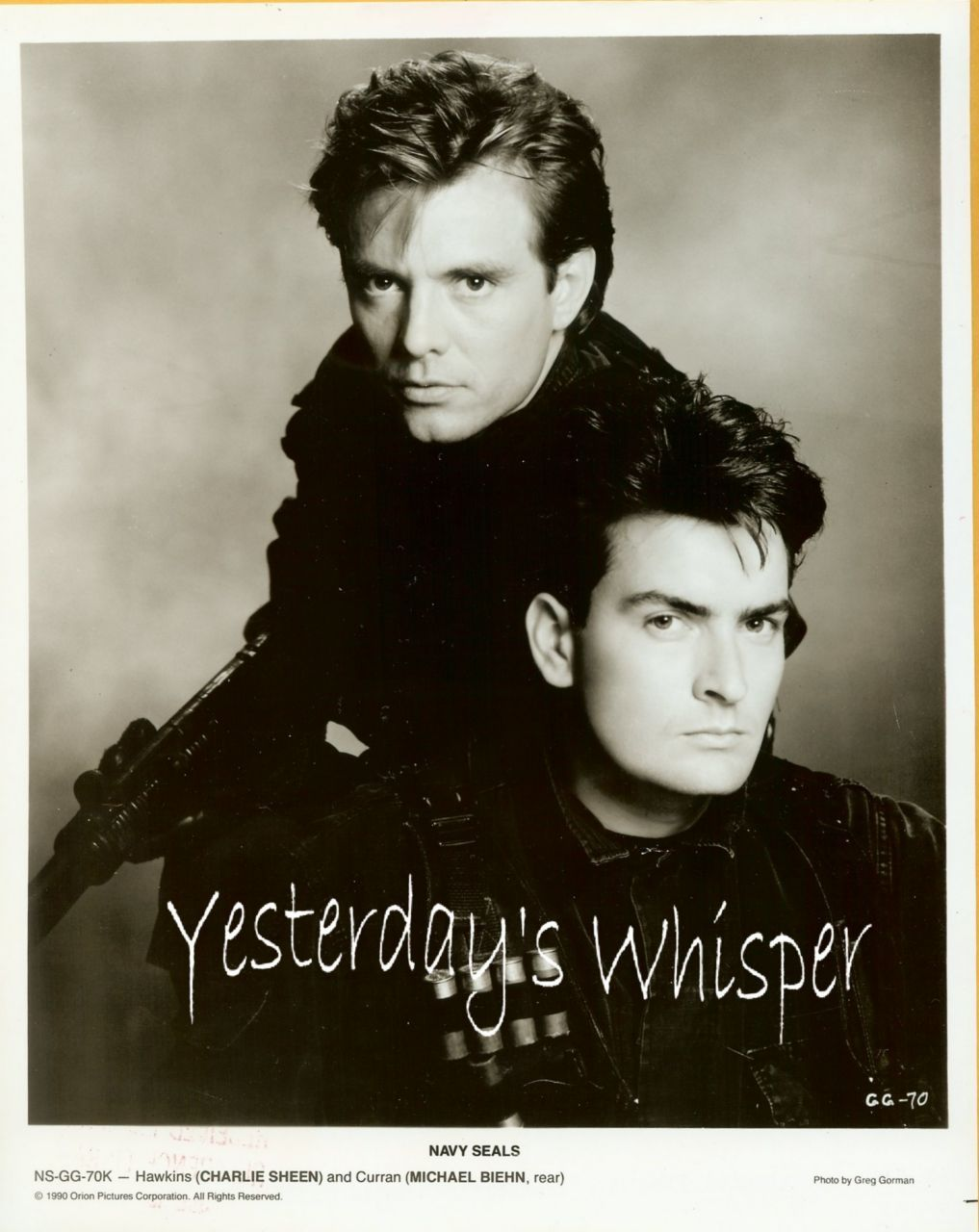 1990's Publicity Photo Charlie Sheen Michael Biehn k277