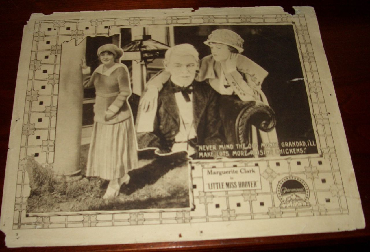 Vintage Lobby Card Marguerite Clark Little Miss Hoover