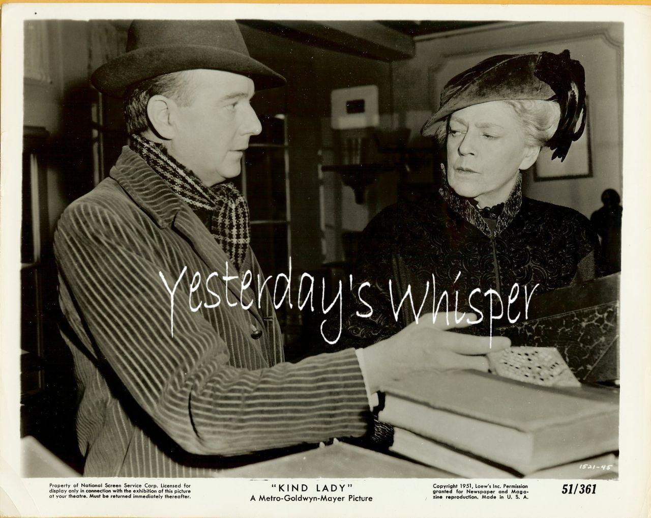 1950s MGM Photo Ethel Barrymore Maurice Evans Kind Lady k355